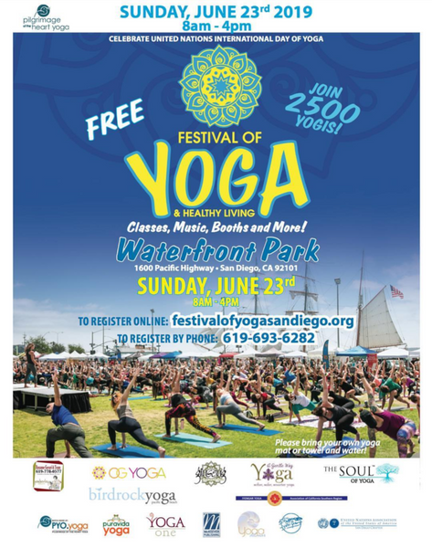 June 23 (Sun) - Booth at Festival of Yoga San Diego