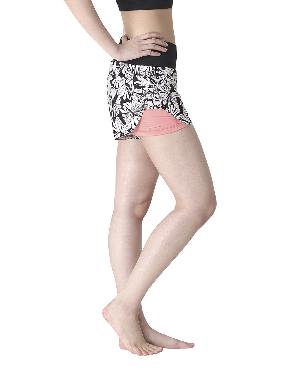 RIPPLE SHORTS - MIDNIGHT BLOOM & CORAL, Shorts - Wakingbee