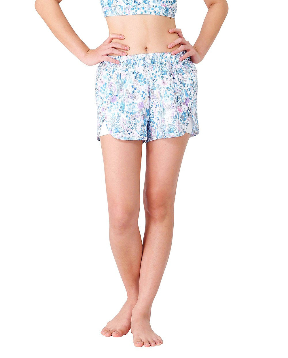 Wakingbee Buzz Runners Shorts Flower Mist Blue