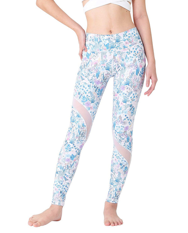 SLASH TIGHTS - FLOWER MIST, Leggings - Wakingbee