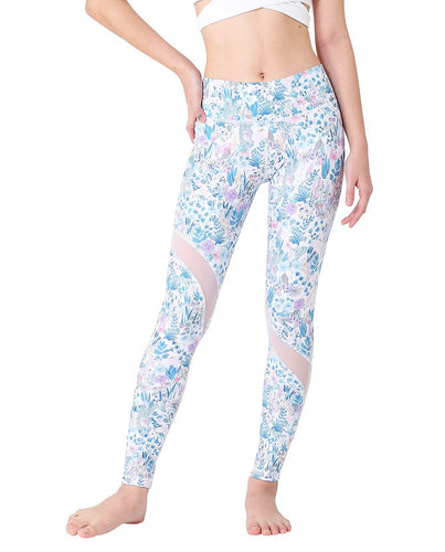 Wakingbee Slash Tights Flower Mist Blue