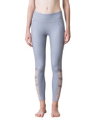 BLOCK STRIPE LEGGINGS - GREY, Leggings - Wakingbee