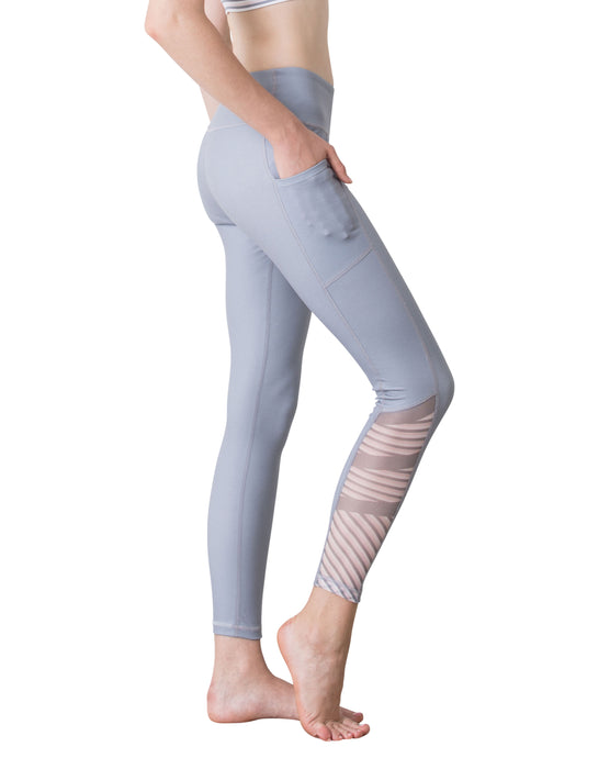 (NEW) BLOCK STRIPE LEGGINGS - GREY