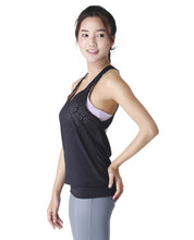 Wakingbee Buzzy Tank Black and Lavender