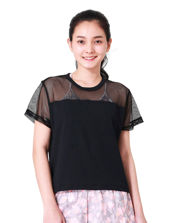 CROP TEE - BLACK, Tank/Top - Wakingbee
