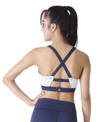 CROSS BEE BRA - NAVY & WHITE, Bra - Wakingbee