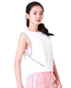 (WBxTAEW) MESH BACK CROP - WHITE, Tank/Top - Wakingbee