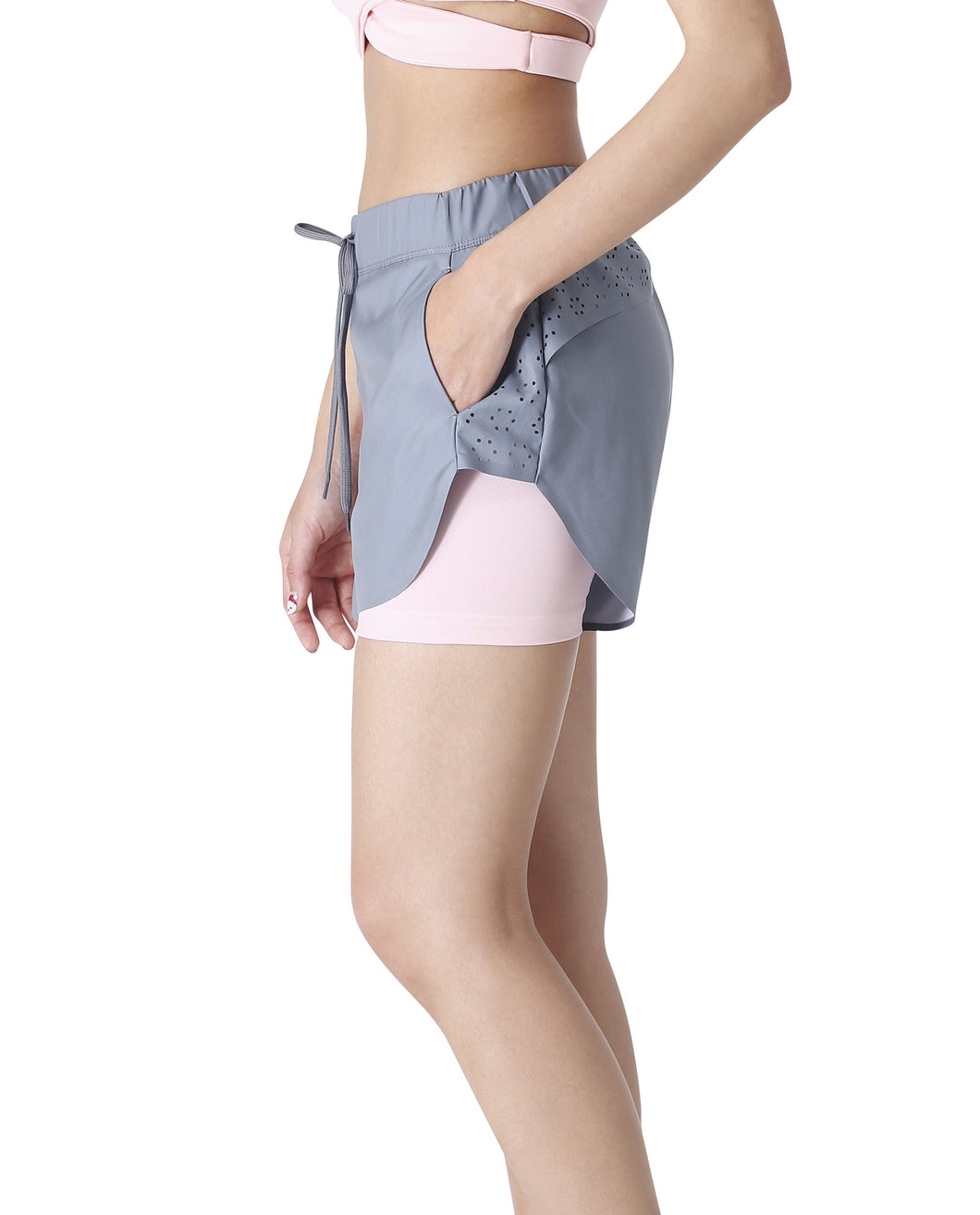 Queen Bee Shorts Grey and Pink