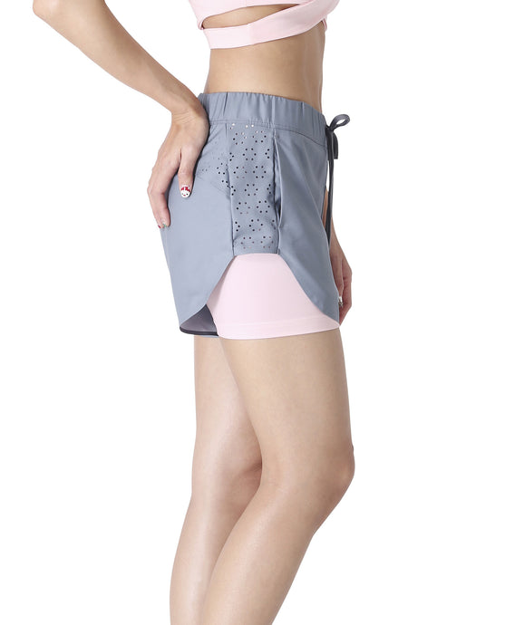 Wakingbee Queen Bee Shorts Grey and Peach