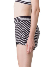 STRIPE SHORTS - BLACK & WHITE, Shorts - Wakingbee