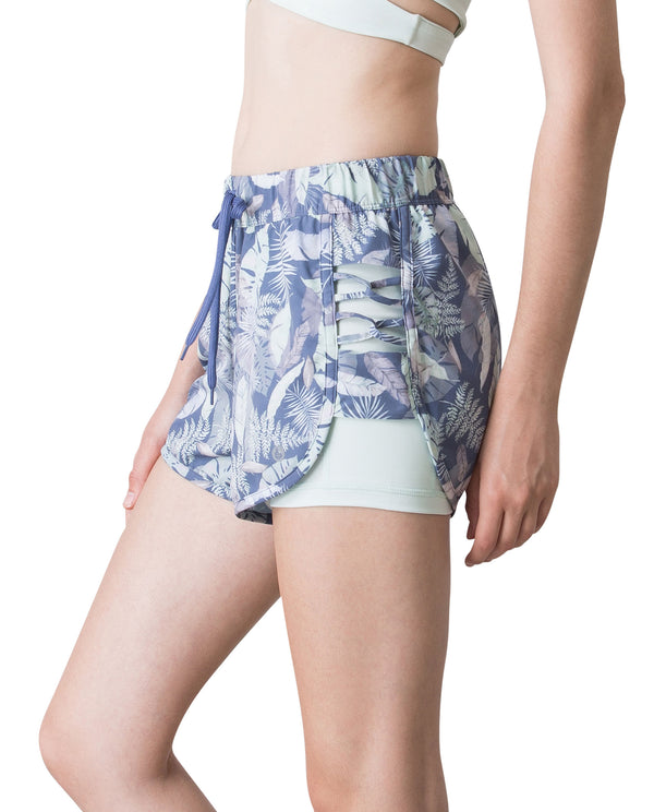 YP$25 - SUMMER RUNNER SHORTS - BEACH FOREST, Shorts - Wakingbee