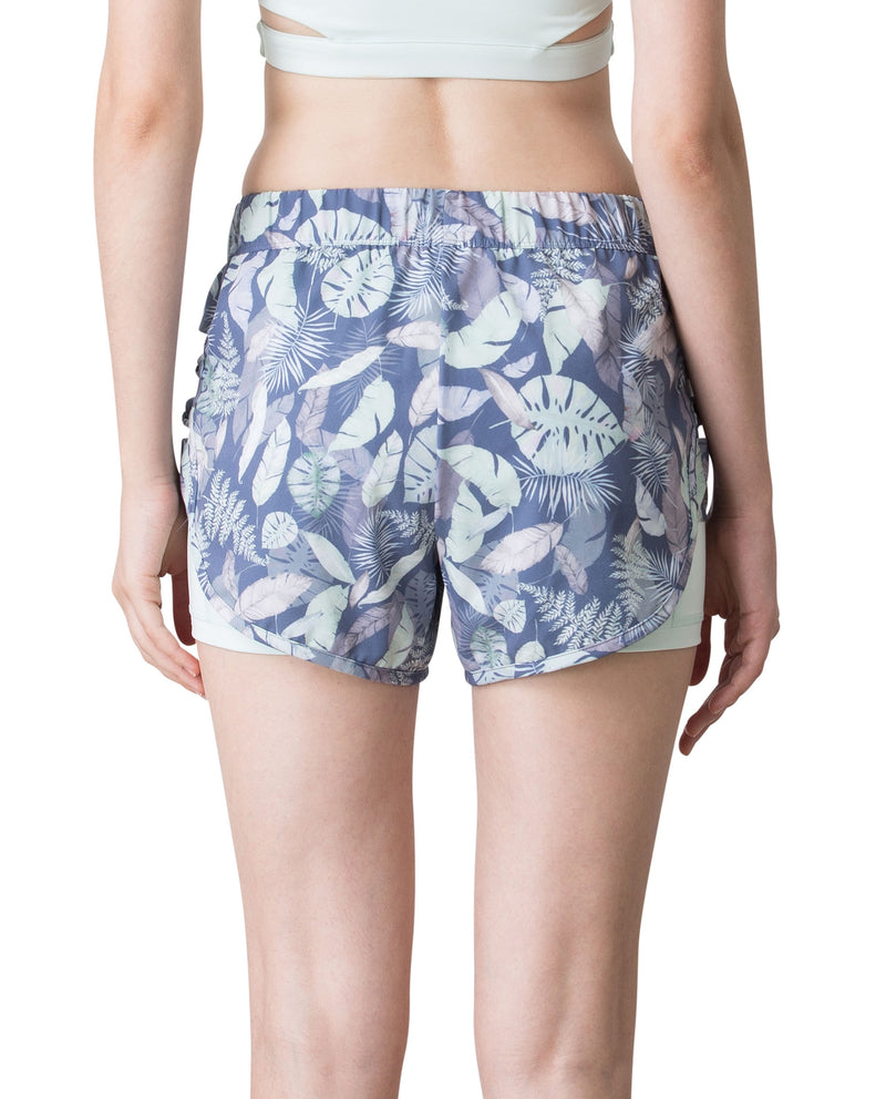 SUMMER RUNNER SHORTS - BEACH FOREST, Shorts - Wakingbee