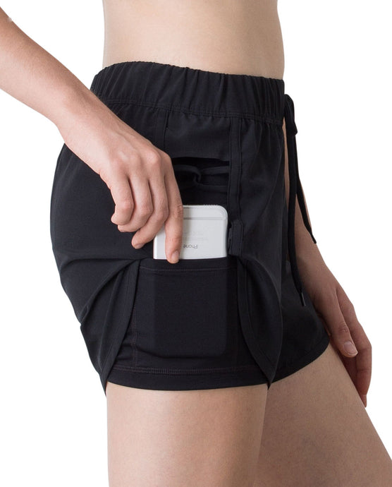 (NEW) SUMMER RUNNER SHORTS - BLACK