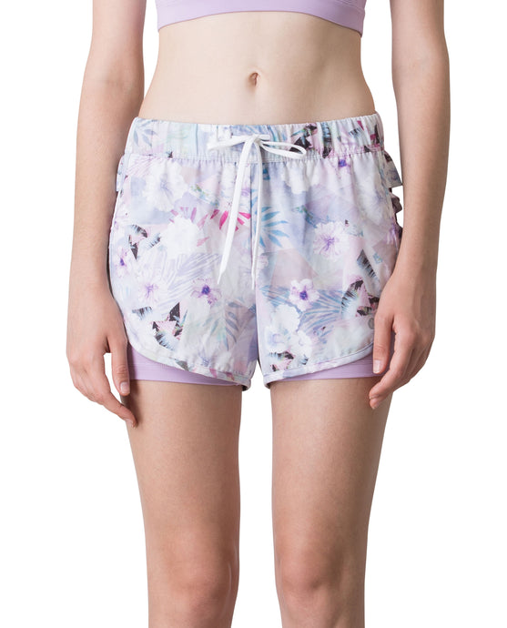 (NEW) SUMMER RUNNER SHORTS - FLORAL SEA