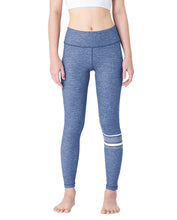 Wakingbee Knee-Striped Leggings Denim Blue