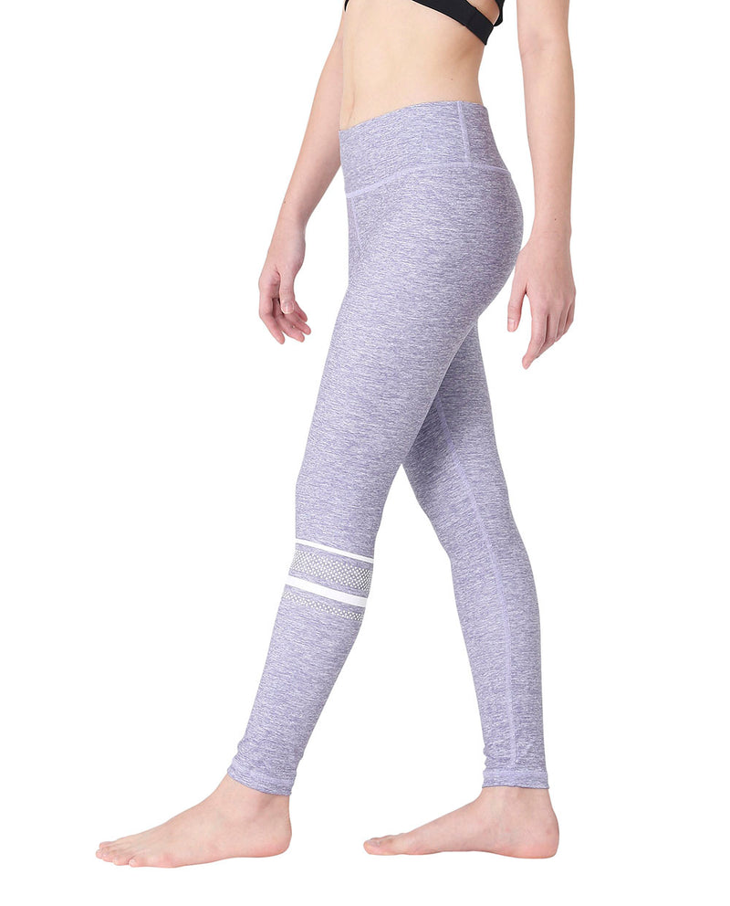(LIMITED EDITION) KNEE-STRIPED LEGGINGS - PLUM, Leggings - Wakingbee