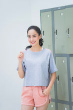 (WBxTAEW) BOXY TOP - GREY