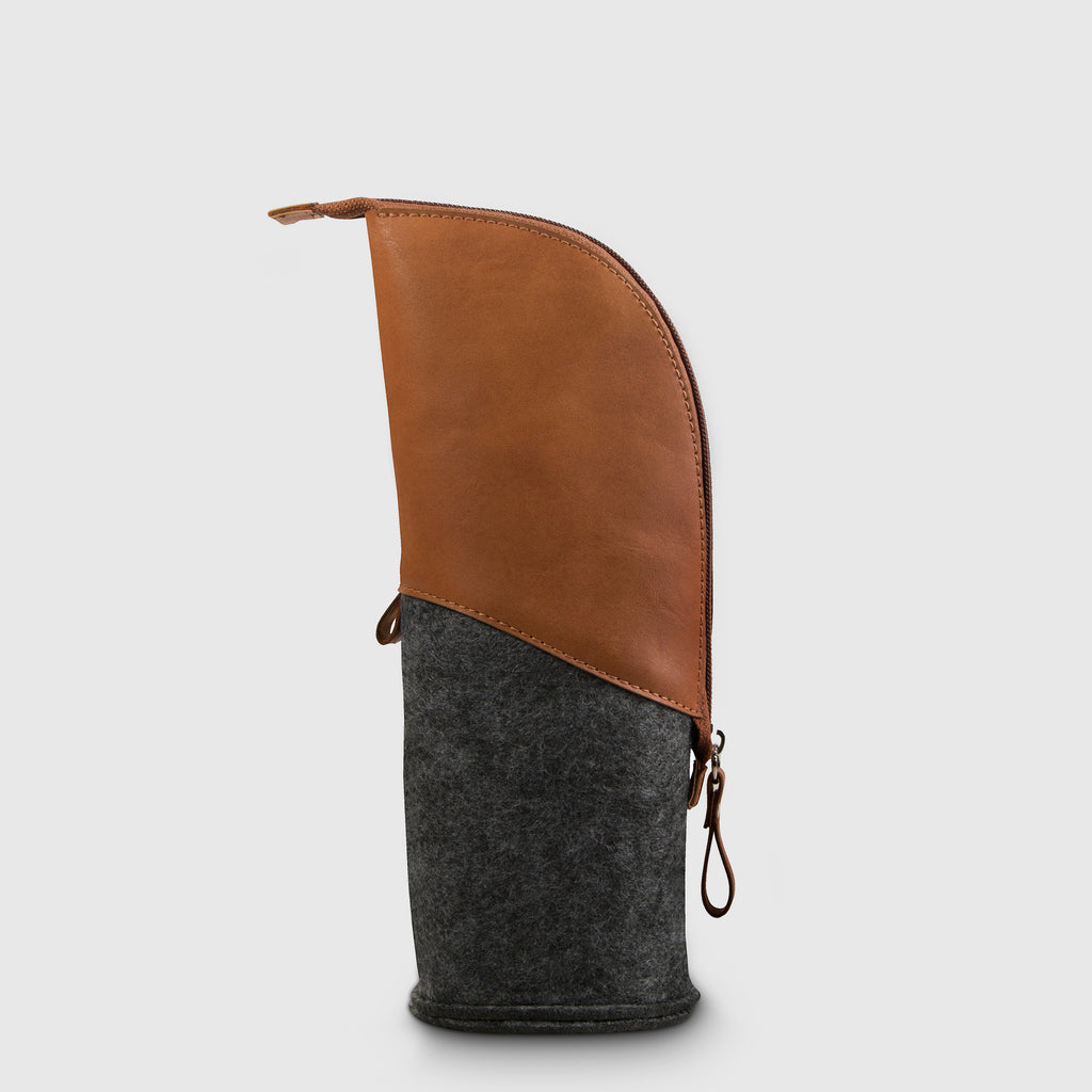 Moai Pencil Case Brown