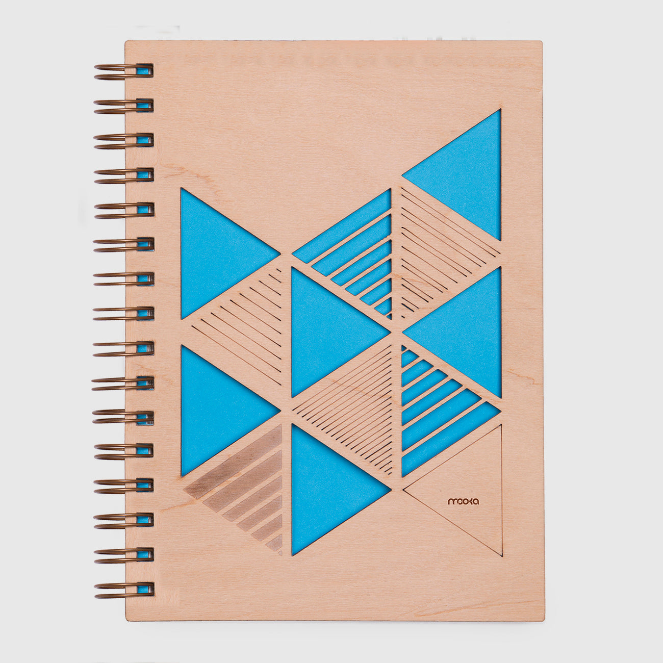 Notebook Madera Triangulos A5