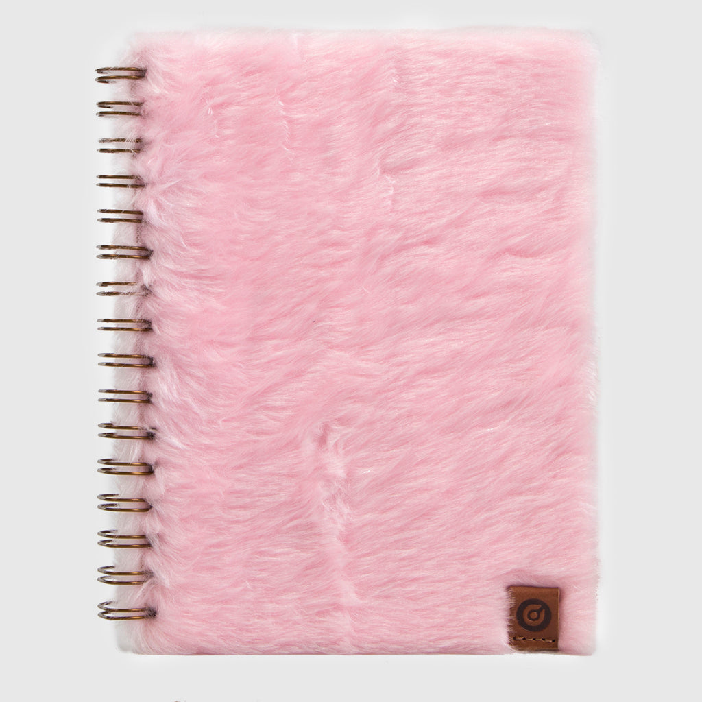Glam Notebook Furry Pink