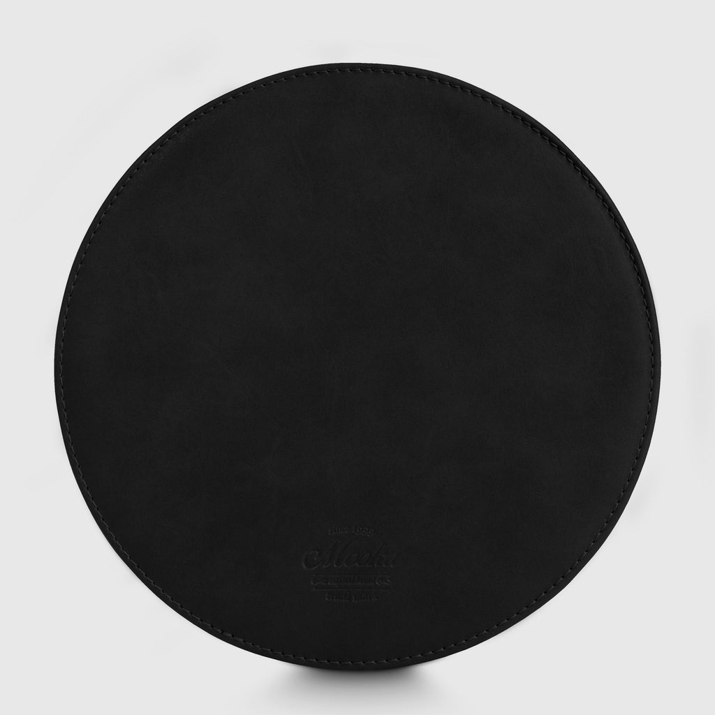 Round Black Mouse Pad