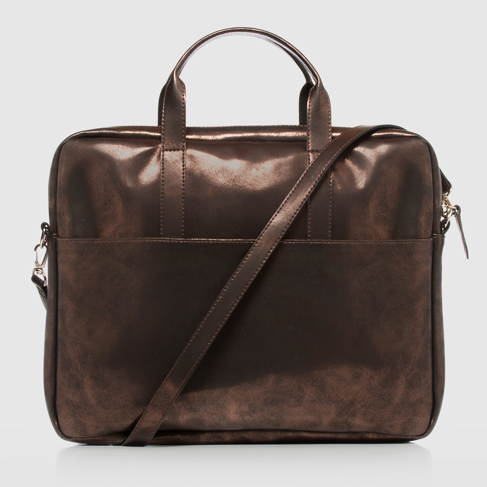Document Briefcase Metallic Brown
