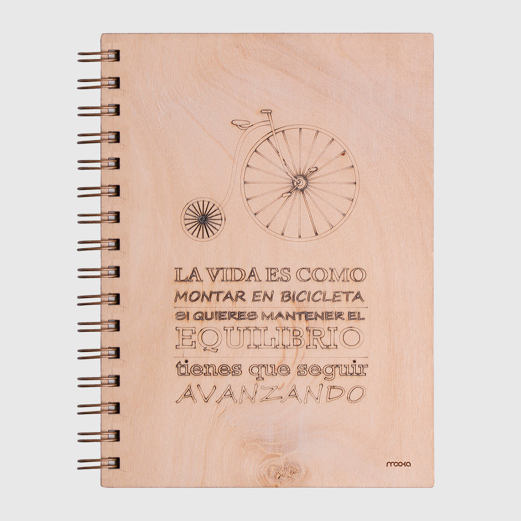 Notebook Madera Retro Bike A5