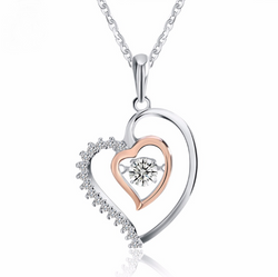 925 Silver Double Heart Necklace