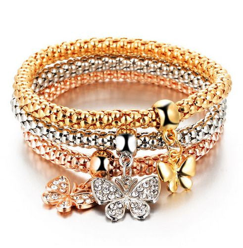 3PC Crystal Bracelet Set