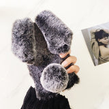 <b>IPHONE 6/6S/6 PLUS 7/7 PLUS</b> - Furry Bunny Phone Case