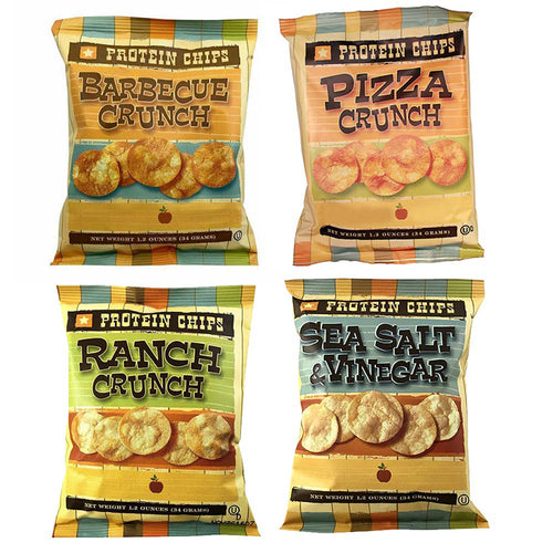 Protein Chips 4 Pack Assortment by Healthwise, 4.8 oz.