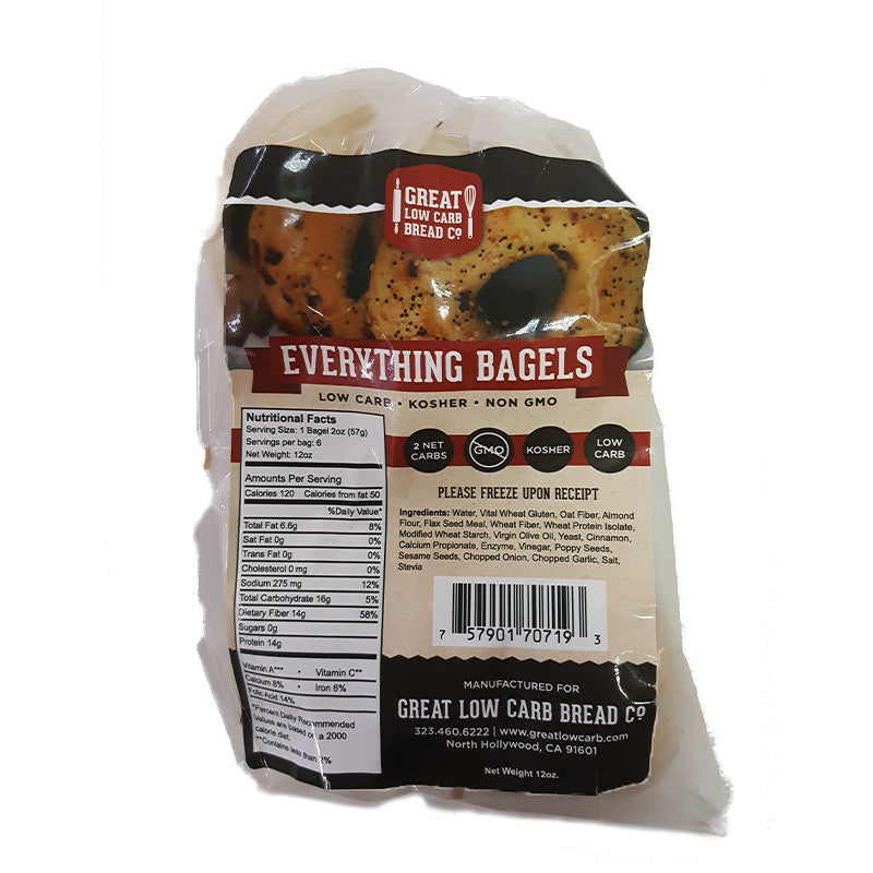 Everything Bagels by Great Low Carb Bread Company, 16 oz.