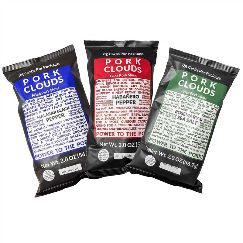 Pork Clouds 3 Pack Assortment by Bacon's Heir, 6 oz.