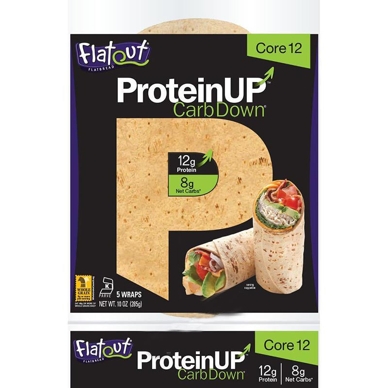 ProteinUP Core 12 Wraps by Flatout, 10 oz.
