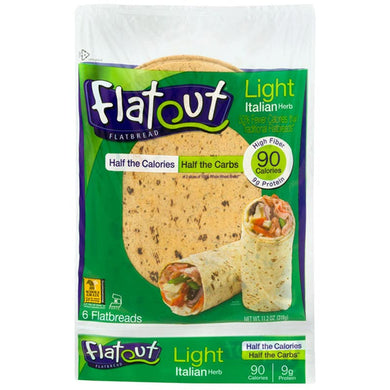 Italian Herb Wraps by Flatout, 11.2 oz.