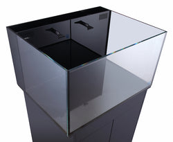 Nano 50 Gal Lagoon Kit Fusion Aquarium Black W/Pump - No Stand 30lx24wx16h Innovative Marine Nuvo