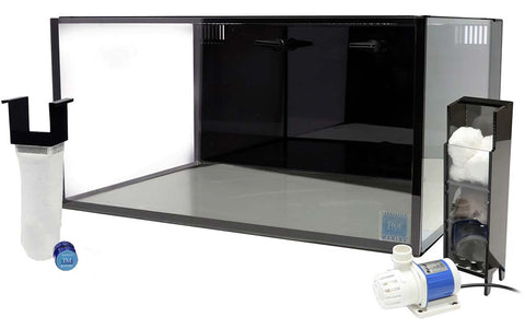 Fusion 25 Gal Lagoon Kit Nano Aquarium Black W/Pump - No Stand No Lid 24lx20wx12hInnovative Marine Nuvo