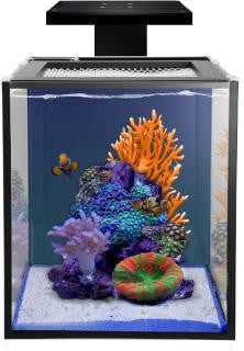 "Fusion Nano 10 Gal Kit Black Aquarium W/Pump - No Stand 12lx15wx13h"" Innovative Marine Nuvo"