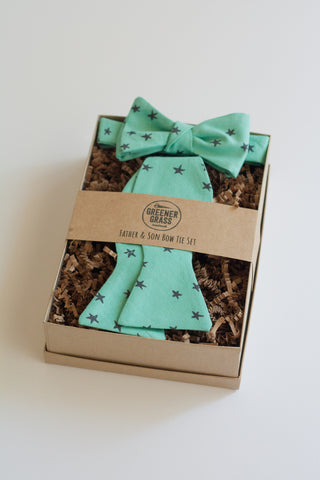 Father & Son Bow Tie Set in Starry