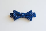Little Boy Bow Tie In Navy Swiss Dot
