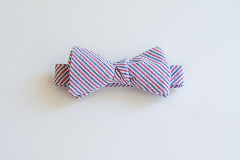 Little Boy Bow Tie in Old Glory Seersucker