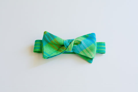 Little Boy Bow Tie in Picnic Plaid