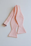 Men's Bow Tie in Peach Gingham