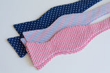 Men's Bow Tie in Old Glory Seersucker