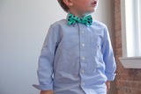 Little Boy Bow Tie in Green Gingham