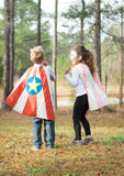 Red and Blue Super Hero Cape