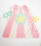 Pink and Aqua Super Hero Cape