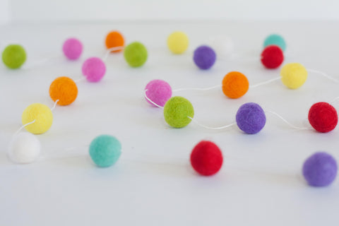 Felt Ball Pom Pom Garlands