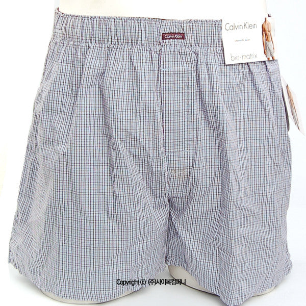 [Calvin Klein] Woven Relaxed Fit Boxer (U1147-58S)