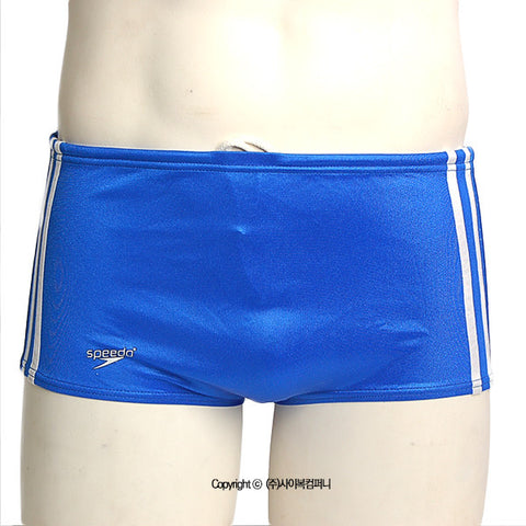 [Speedo USA] Stripe Square Leg Royal (74956)